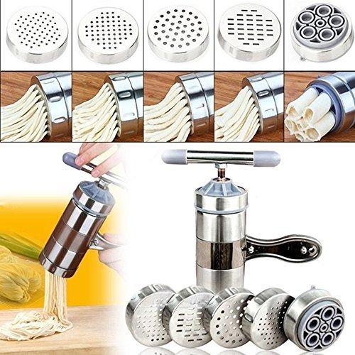 (Hand-cranked press noodle machine - Stainless Steel Pasta Noodle Maker Fruit Juicer Press Spaghetti Kitchen Machine)