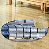 Small round rug Carpetstacked steel metal roll ready for shipment in port door mat indoors Bathroom Mats Non Slip-Round 24''
