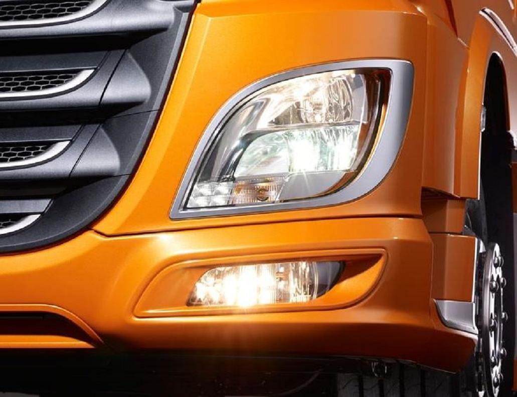 24/7Auto 2 teilig, Edelstahl Scheinwerfer Surround Dekorationen fü r XF 106 Trucks Spiegel poliert Zubehö r ESK