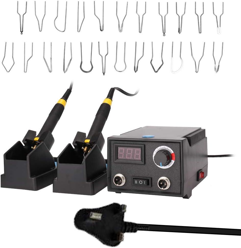 60 W,2 bol/ígrafos,23 puntas de alambre de pirograbado,doble puerto,pantalla digital SEAAN M/áquina de pirograbado,kit de quema de le/ña,control de temperatura ajustable,para madera de cuero y calabaza