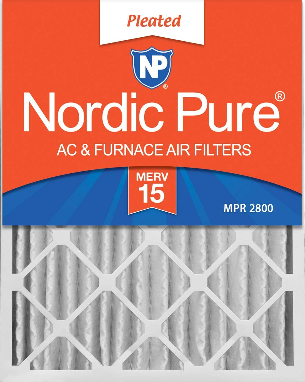 MERV 14 Plus Carbon Pleated AC Furnace Air Filters 6 PACK 6 PACK 3-5//8 Actual Depth Nordic Pure 20x24x4
