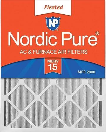 3-5//8 Actual Depth MERV 13 AC Furnace Air Filter Nordic Pure 16x20x4 Box of 6