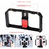 Ulanzi U-Rig Pro Smartphone Video Rig 3 Shoe Mounts Filmmaking Case Handheld Phone Video Stabilizer Grip Tripod Mount Stand for Videomaker Film-maker Videographer for iPhone X 8 Plus Sumsang