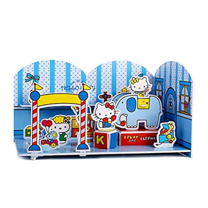 bb4c38c41 NEILDEN Hello Kitty 3D Scene Jigsaw Puzzle - Beautiful Campus - Toy House,  Suitable for