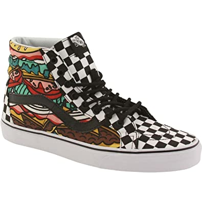 796ebd4168 Image Unavailable. Image not available for. Color  Vans Unisex Sk8-Hi  Reissue Late Night Skate Shoes-Late Night Burger Checkered