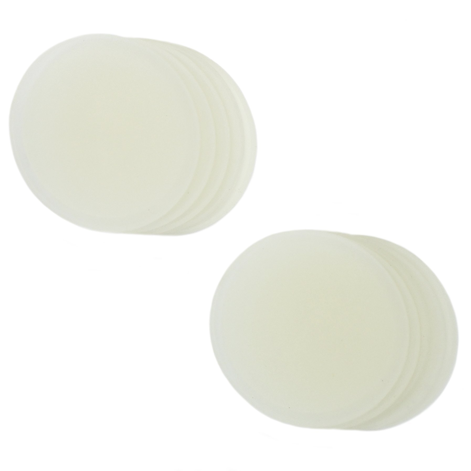 Zoie + Chloe Silicone Seals & Lids for Mason Canning Jars - 10 Pack - Wide Mouth