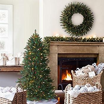 Balsam Hill Berkshire Mountain Fir Prelit Artificial Christmas Tree, 4.5 Feet, Multi-Colored Lights