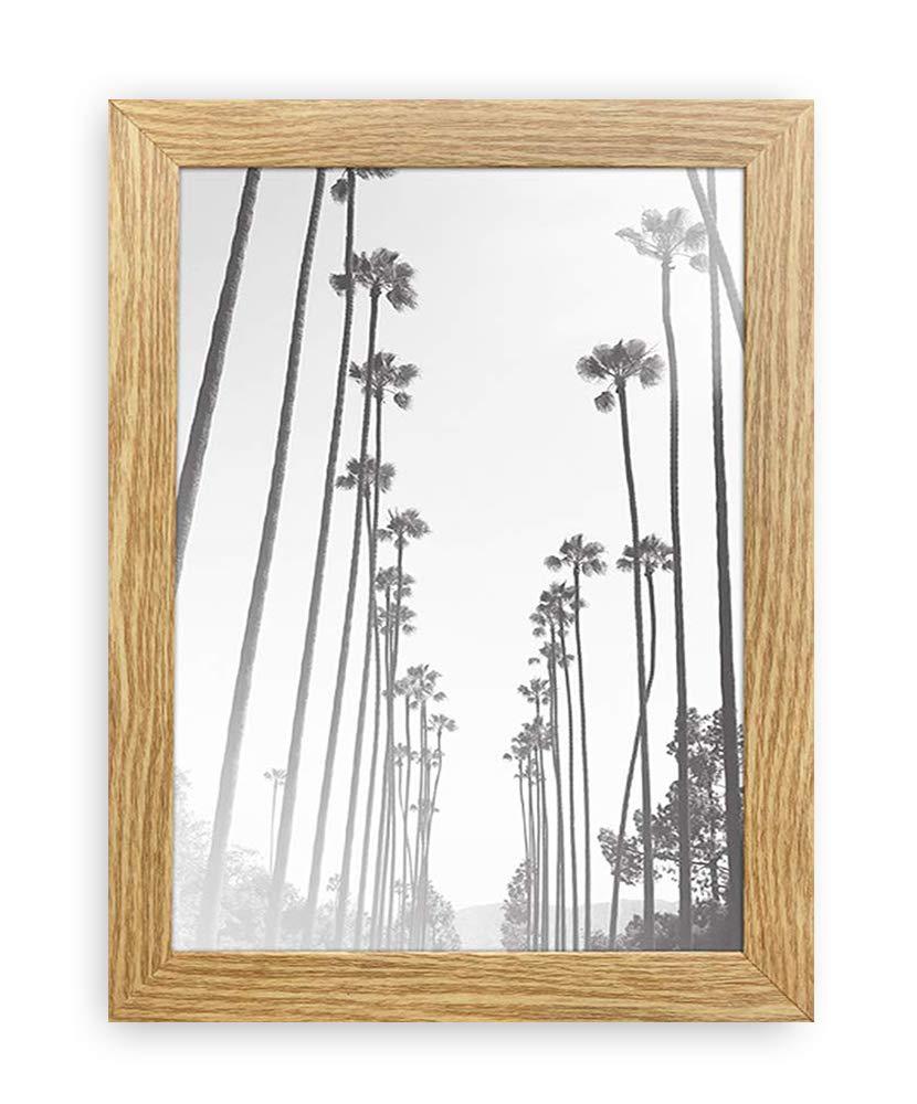 A5 / 14.8x21cm Oxford Oak Wood Effect Photo Frame - GLASS Window - Thin Picture Certificate Frame - Portrait & Landscape/Width Of Frame 2cm Photoframesandart