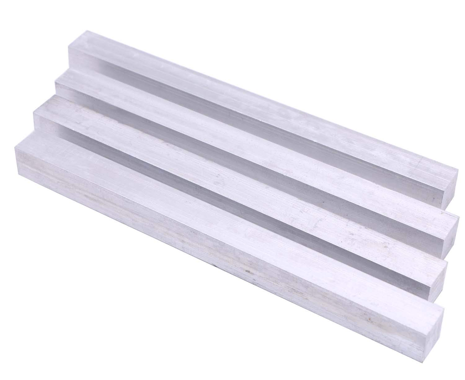 4 Pieces of 0.98 X 0.98 Square Aluminum BAR 12 Long .05//0 6061 General Purpose Plate,T6511 Solid New Mill Stock