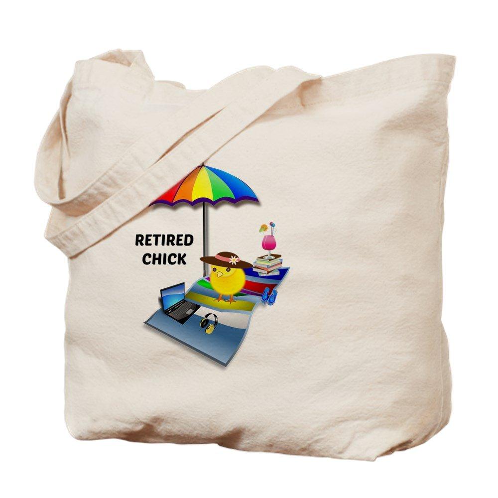 CafePress – Retired Chick 2015 – ナチュラルキャンバストートバッグ、布ショッピングバッグ M ベージュ 15920873086893C B073QTJY68 MM