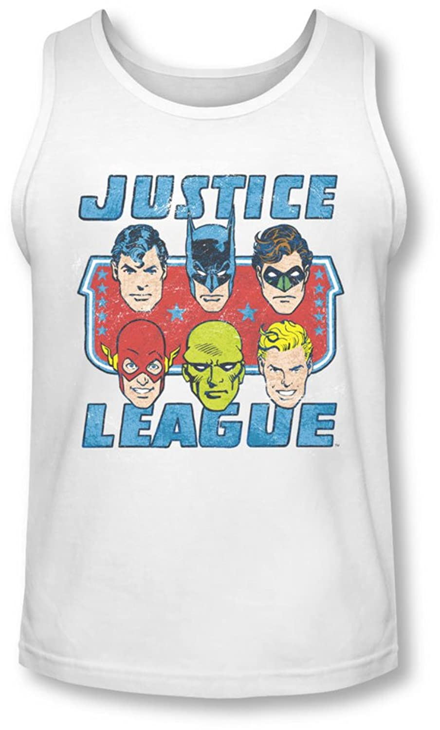 Dc - Mens Faces Of Justice Tank-Top