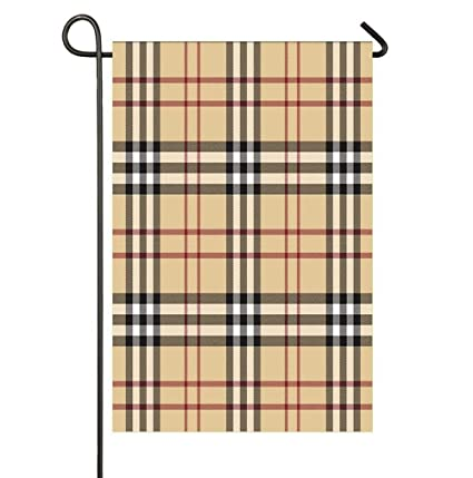 Amazon SmallGardenflagMim Pattern Burberry Garden Yard Flag 12x 18 Double Sided Polyester Welcome House Banners For Patio Lawn Outdoor Home