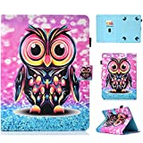 Uliking Uinversal Case Cover for 9.5-10.5 Inch Tablet,iPad 9.7 Inch, Galaxy Tab 10.1/9.7 Tablet,Galaxy Tab S4 10.5 Inch, Purple Owl