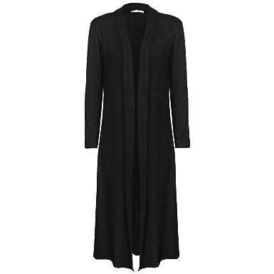Ladies Boyfriend Long Sleeve Length Maxi Cardigans Women Open Top ...