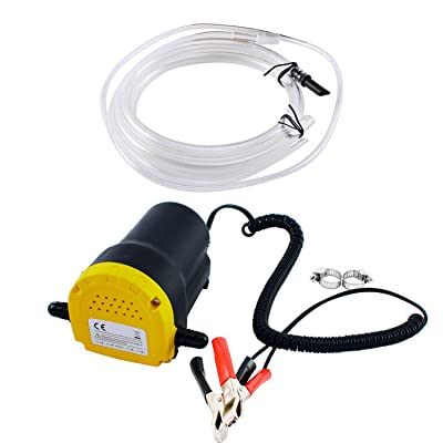 DasMarine 12V 60W Oil Change Pump Extractor, Oil/Diesel Fluid Pump Extractor Scavenge Oil Change Pump Transfer Suction Transfer Pump + Tubes Truck Rv Boat ATV: Automotive