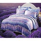 Brandream Girls Lavender Bedding Set Romantic Duvet Cover Queen Full Size