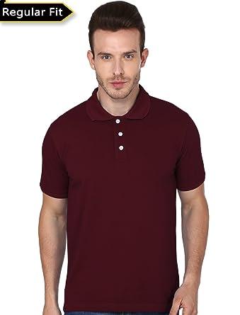 08c01f2b Men's Plain Polo Collar Tshirt: Amazon.in: Clothing & Accessories