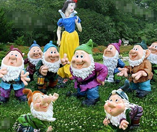 La princesa y los siete enanitos adornos resina crafts Escultura jardín Patio Decoración: Amazon.es: Jardín