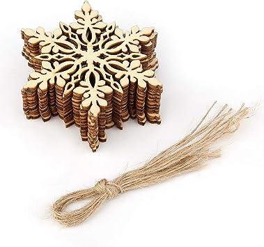 1//10//100pcs DIY Crafts Christmas Tree Ornaments New Year Home Xmas Party Decor