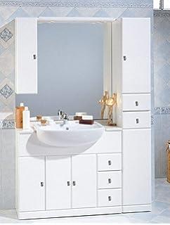 f73c5b9c77a4 Mobile Bagno Cleo 100+30 cm arredo con lavabo semincasso Specchio con  tettino l
