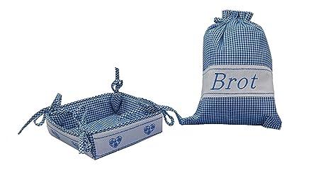 Mesa de desayuno de juego de mantel de con el pan y para el pan de ...