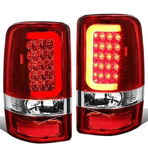 Yukon Lights Led Tail Lamps (DNA Motoring TL-GMCDE00-LED-RD3D-CH-RD 3D LED Tail Light Brake Lamp Assembly (Driver & Passenger Side))