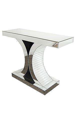 art deco venetian glass console table