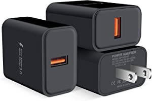3Pack Quick Charge 3.0 Fast Charging Block Brick Wall Charger Plug Adaptive AC Adapter Power Cubes for iPhone Samsung Galaxy S21 S20 FE S10 S10E S9 S8 S7 Note 20 Ultra 10 A01 A10E A20 A21 A50 A51 A71