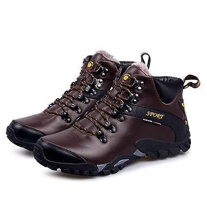 Scarpe da Trekking Impermeabili Antiscivolo da Uomo per l inverno All aperto  Stivali 5c87ef8cce5