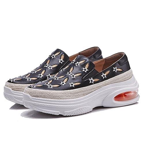 GAOLIXIA Mocasines de la Plataforma de Las Mujeres Zapatos Casuales Amortiguador de Aire Bordado Deportes Zapatos Casuales Slip On Zapatos Casuales: ...