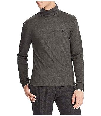 RALPH LAUREN Polo Men\u0027s Soft-Touch Turtleneck Pullover Shirt (Grey, Small)