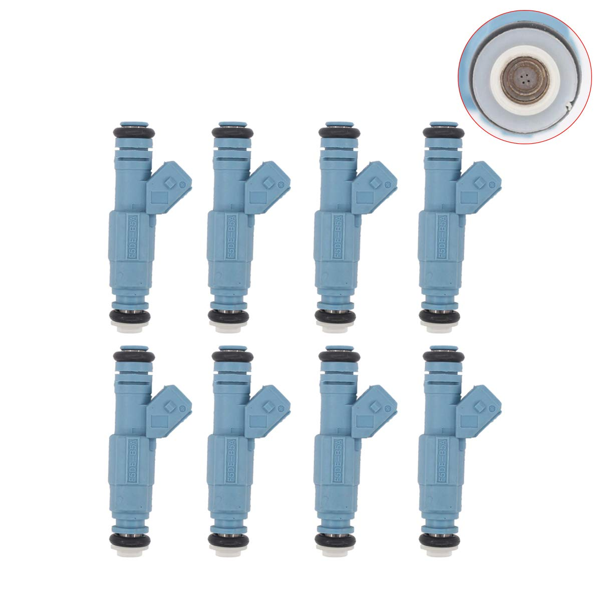 NewYall Pack of 8 Fuel Injector