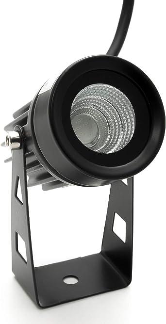 Foco proyector LED foco 3,5 W orientable luz jardín pared exterior ...