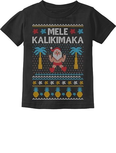 Tstars Mele Kalikimaka Hawaiian Santa Ugly Christmas Toddler//Kids Sweatshirt