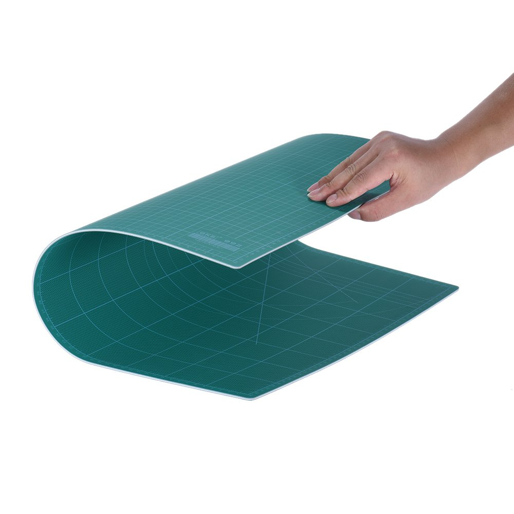 Aibecy GKS PVC Patchwork Tools A3 Cutting Mat Manual DIY Tool Cutting Board Double-sided Available Self-healing Cutting Pad 30cm * 45cm * 3mm Green KKmoon