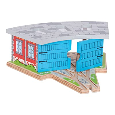 Bigjigs Rail Wooden Triple Engine Shed - Other Major Wooden Rail Brands are Compatible: Toys & Games