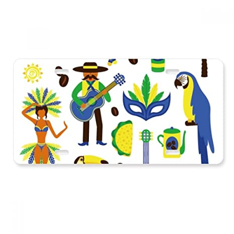 Amazon com: FerryLife Soccer Parrot Guitar Coffee Brazil