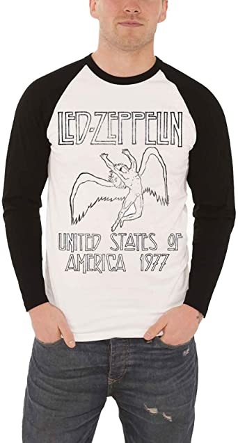 Led Zeppelin  /'77 U.S TOUR Long Sleeve thermal Rock T-Shirt  shirt XL