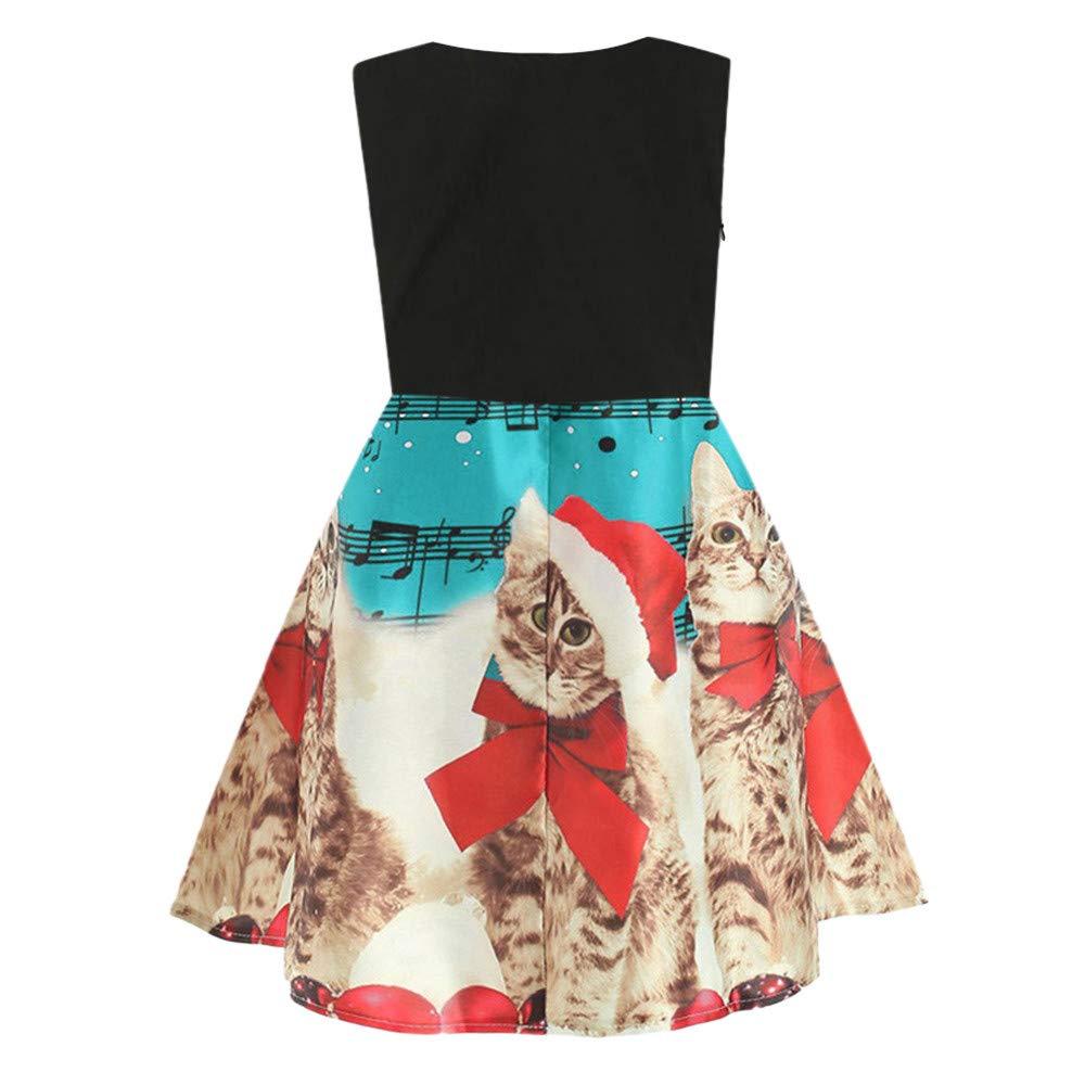Vestidos para Niñas Elegante Vintage Estampado de Niñas Años 50 para ...