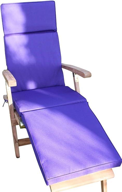 Cojín para muebles de jardín - Cojín para silla Steamer de jardín - Color morado: Amazon.es: Jardín