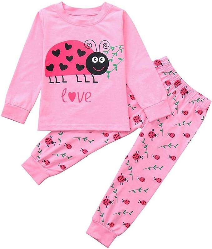 Amazon.com: Conjunto de ropa de pijamas para bebés y niñas ...