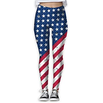7c0d036900 American Flag The Stars And Stripes Womens Full-Length Sports Running Yoga  Workout Leggings Pants