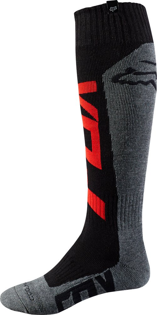 Fox Racing Coolmax Thick - Preme Men's MotoX Motorcycle Socks - Red/Charcoal / Medium