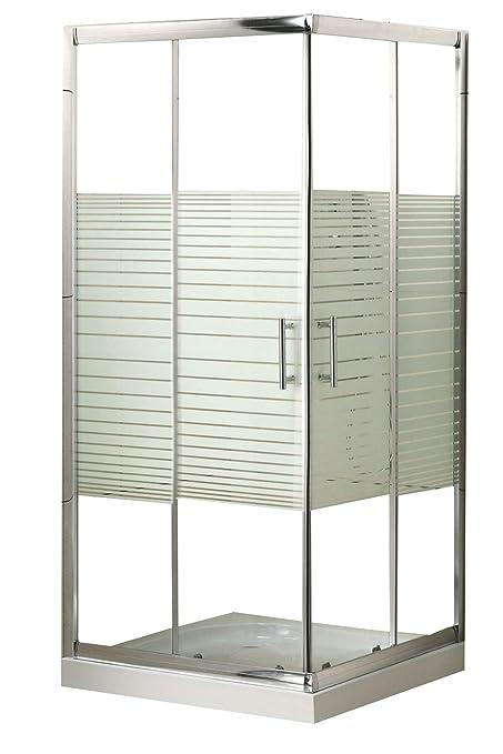 Piatto Doccia Rettangolare Dimensioni.Box Doccia Rettangolare In Cristallo Vetro 5 Mm Dimensione Cm 80x80 Mod Katariina