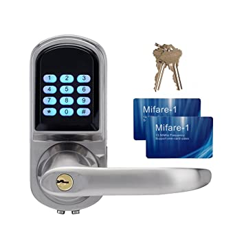 TIVDIO S200MF Digital Door Lock Keypad Door Lock Entry Door Lock With Code  Mifare Card And