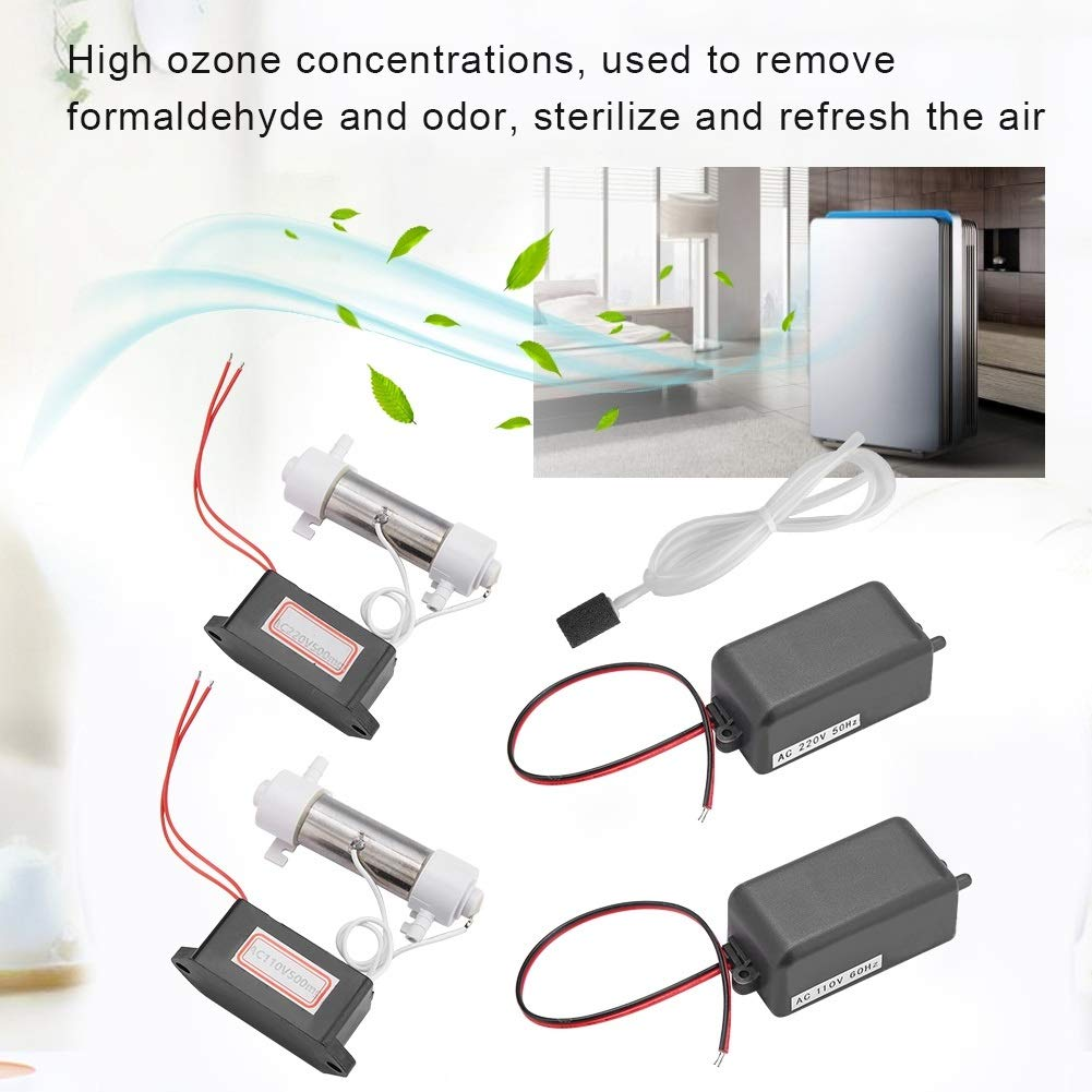 Generador de ozono 500mg Ozonizador Tubo generador de ozono con accesorios para purificador de aire en el hogar Esterilizador