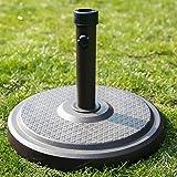 C-Hopetree 50 lbs Round Concrete Market Table Umbrella Stand/Base for 7' to 11' Patio Umbrella, Bronze