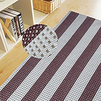 Beige /& Brown Alsomtec 100/% Cotton Trellis Bathroom Mat 20x31.5 inches