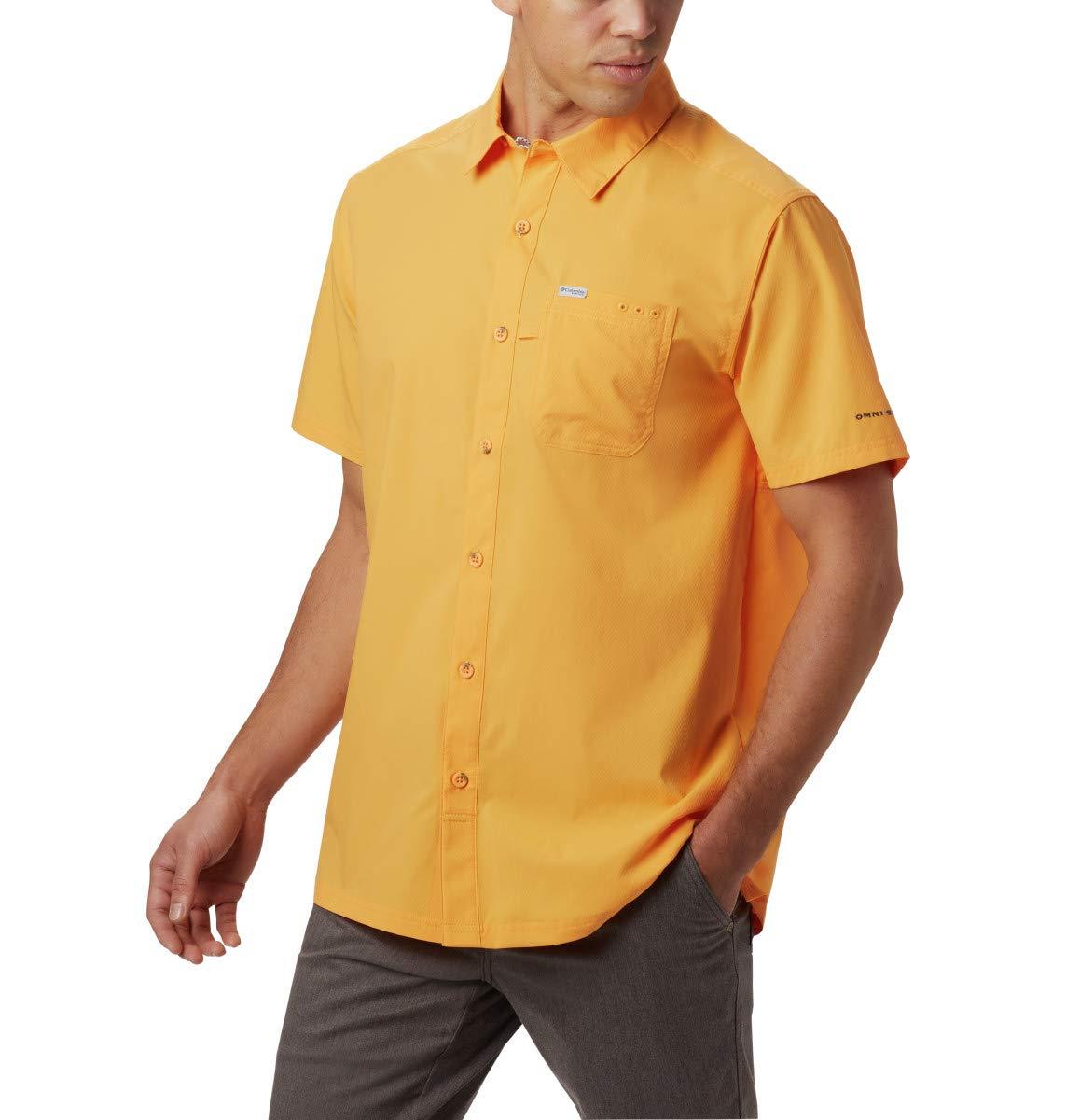 Columbia Men's Slack Tide Camp Shirt, Summer Orange, Large by Columbia