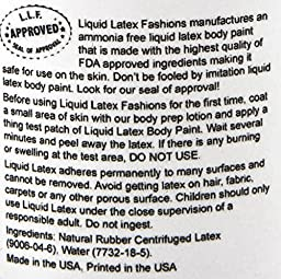 Ammonia Free Liquid Latex Body Paint - 32oz Metallic Silver